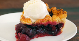 Sweet Cherry Pie with Toasted Almonds Recipe