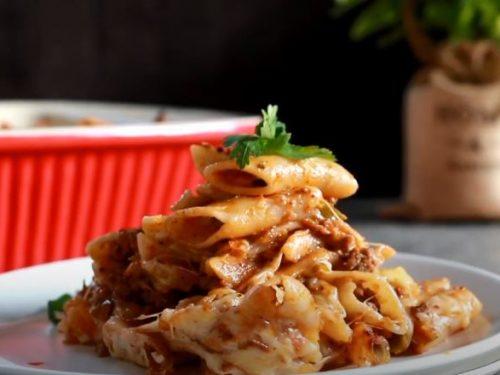 taco chili pasta bake recipe