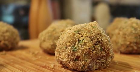 tasty fried eggplant balls