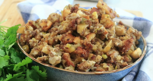 Thanksgiving Stuffing with Sausage and Apples Recipe