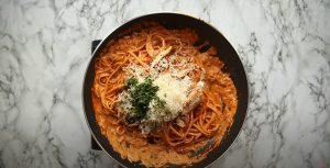 Vegetarian Chicken and Broccoli Fettuccine Recipe