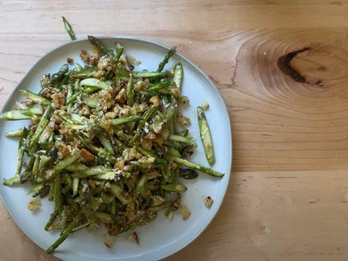scallion and asparagus salad recipe