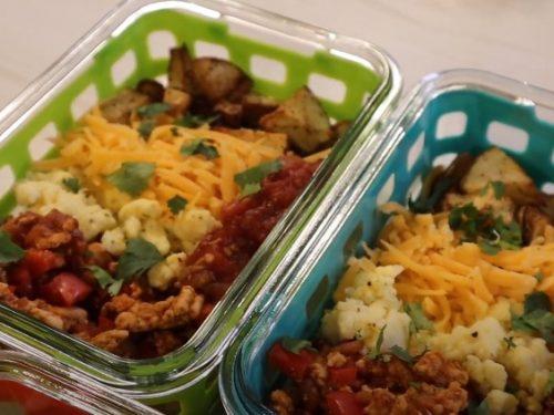 meal prep breakfast taco scramble recipe