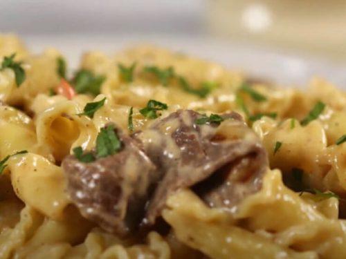 philly cheesesteak pasta recipe