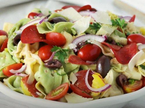 tortellini pasta salad with sun-dried tomatoes and artichokes recipe