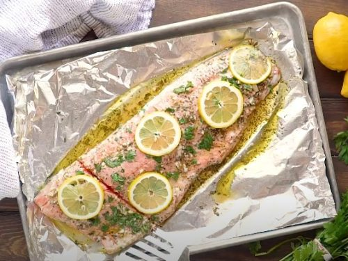 baked lemon herb salmon recipe
