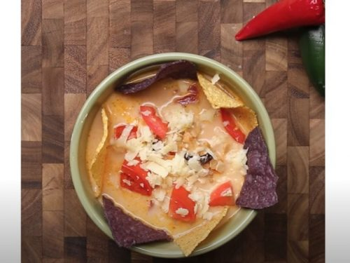 slow cooker beefy nacho soup recipe