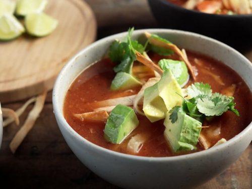slow cooker tortilla soup recipe