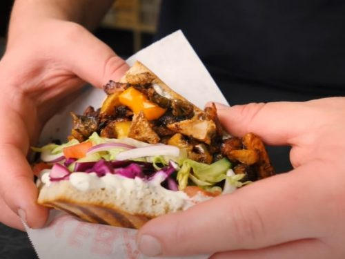 chicken shawarma kebab salad recipe