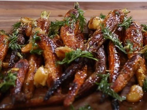 lemon zest-flavored roasted heirloom carrots recipe