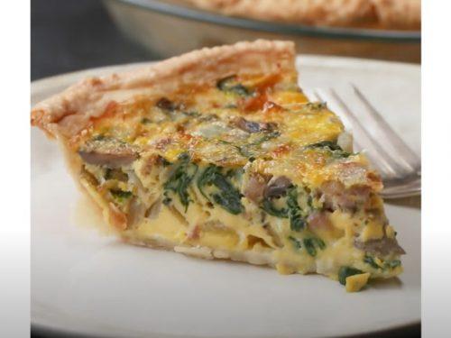 140 calorie cheesy sausage quiche recipe