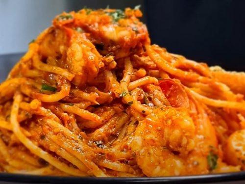 shrimp with sun-dried-tomato barbecue sauce recipe