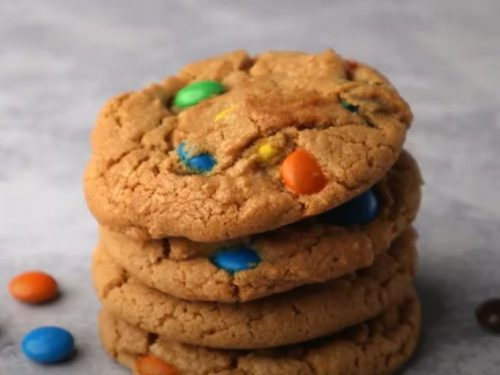 sweet and salty peanut butter m&m cookies recipe
