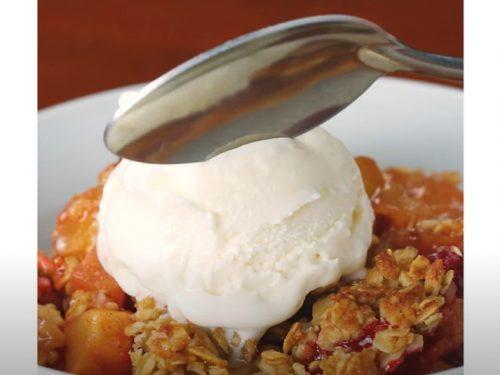 cranberry apple raisin crisp recipe