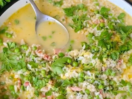 risi e bisi with ham and parmesan recipe