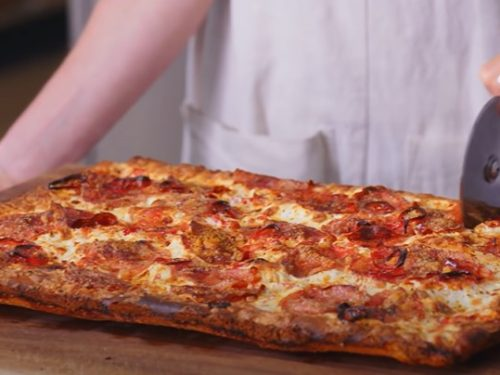 meat lovers' sheet pan pizza recipe