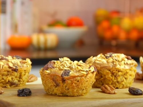 baked pumpkin oatmeal cups (muffins) recipe
