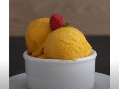 easy mango lime sorbet recipe