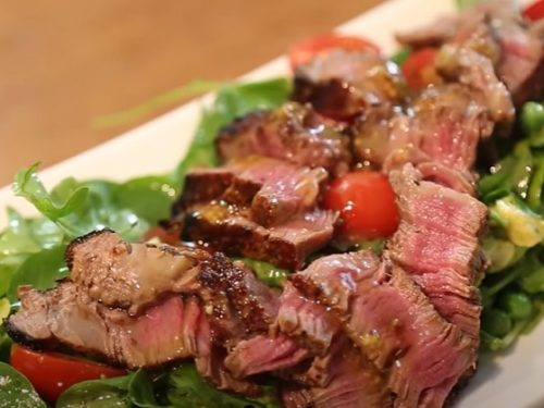 grilled skirt steak salad recipe