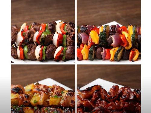 bacon and fruit kabobs recipe