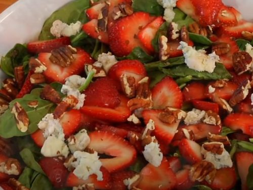 spinach salad with poppy seed vinaigrette recipe