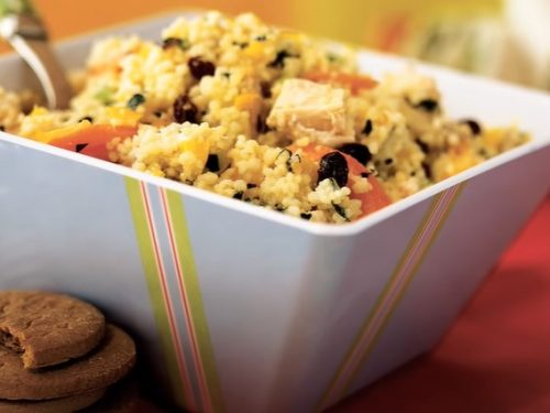 chicken and couscous salad with almonds recipe