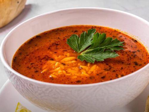 tomato and orzo soup with gorgonzola recipe