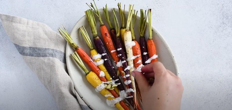 za'atar roasted carrots and chickpeas bowls recipe