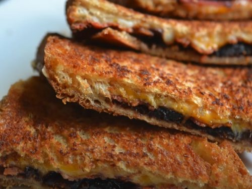 fig and bacon grilled cheese recipe