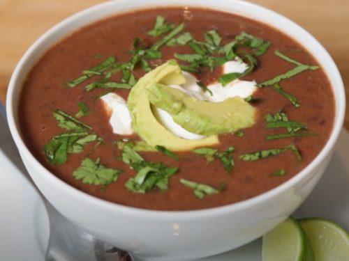 slow cooker black bean soup recipe