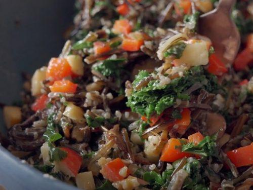 arugula and wild rice salad recipe