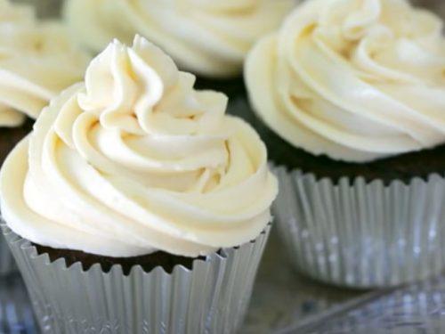chocolate pinata cupcake with cream cheese frosting