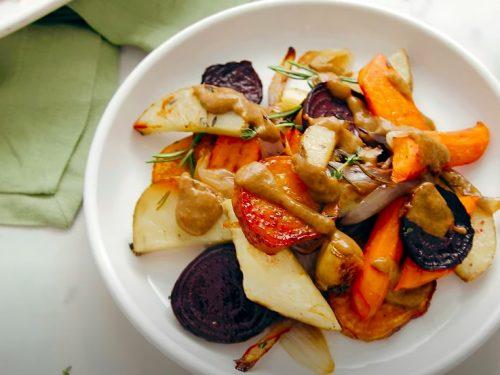 easy vegan sheet pan roasted vegetables recipe