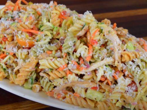 chicken club pasta salad recipe