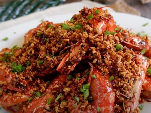 garlic sauteed shrimp with chilies recipe