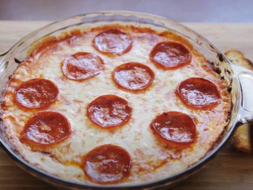 easy cheesy pizza dip recipe
