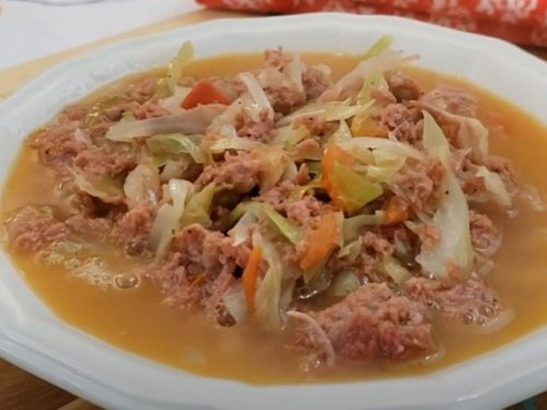 slow cooker corned beef and cabbage soup recipe