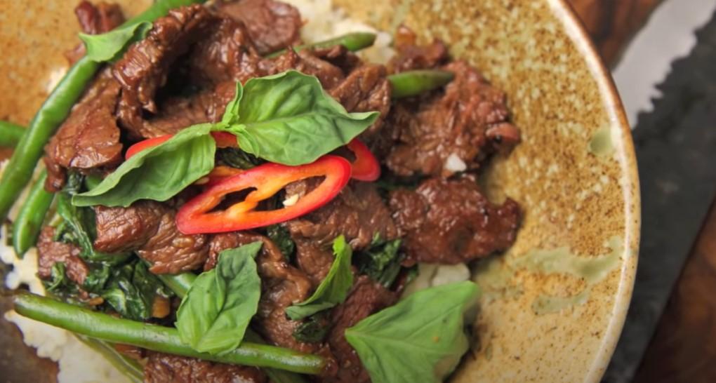 spicy thai beef and jasmine rice recipe