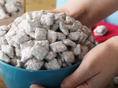 salted peanut nutella puppy chow recipe