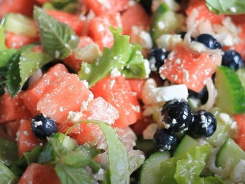 watermelon cucumber feta salad recipe