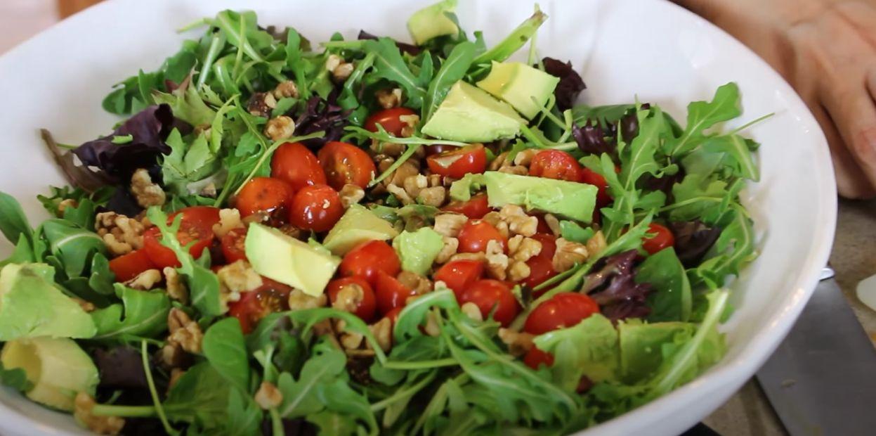 Avocado, Tomato and Cucumber Arugula Salad Recipe