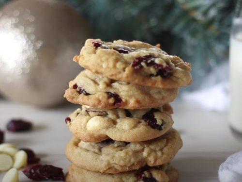 White Chocolate Cherry Cranberry Cookies Recipe