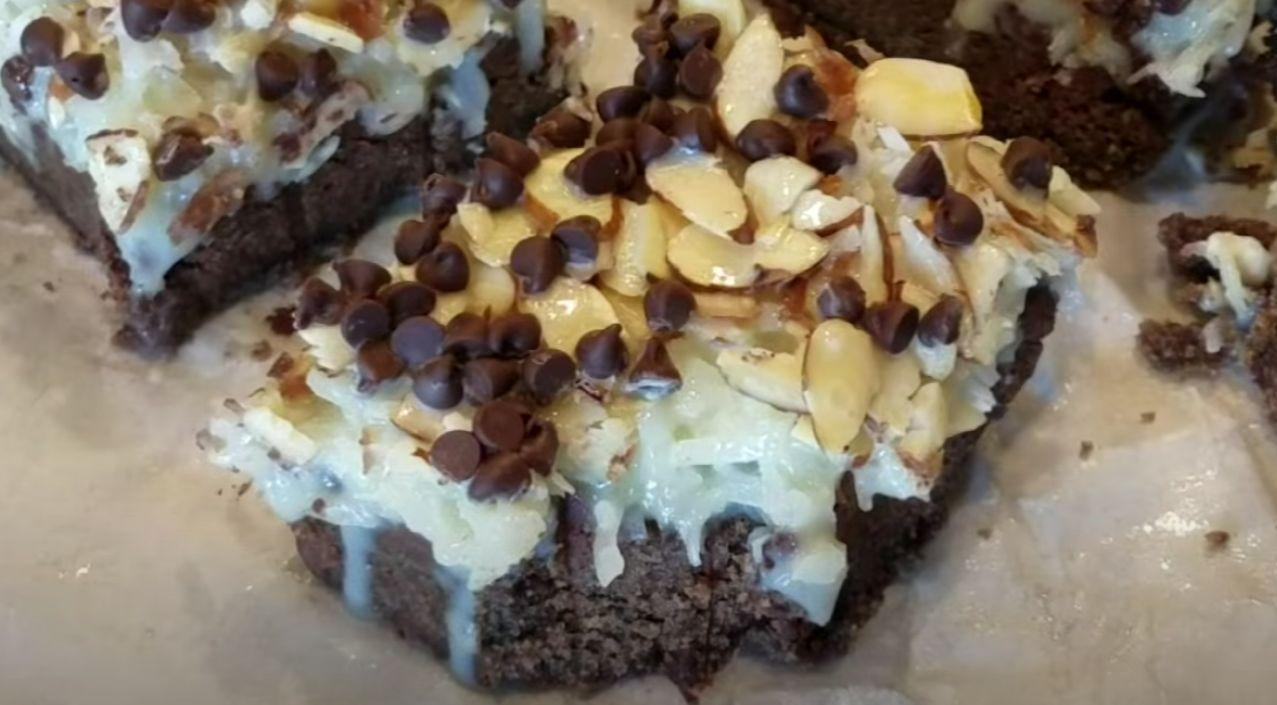 Almond Joy Cookie Dough Bars Recipe
