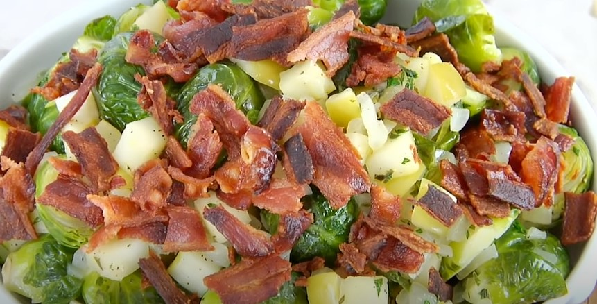 Apple Bacon Brussels Sprouts Salad Recipe