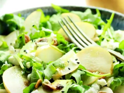 Asian Pear and Arugula Salad with Goat Cheese Recipe
