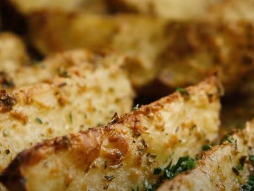 Baked Parmesan Garlic Potato Wedges Recipe