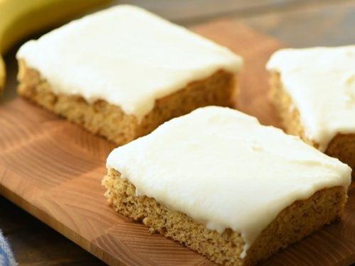 Banana Bread Bars Recipe