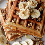 banana waffles with pecans recipe