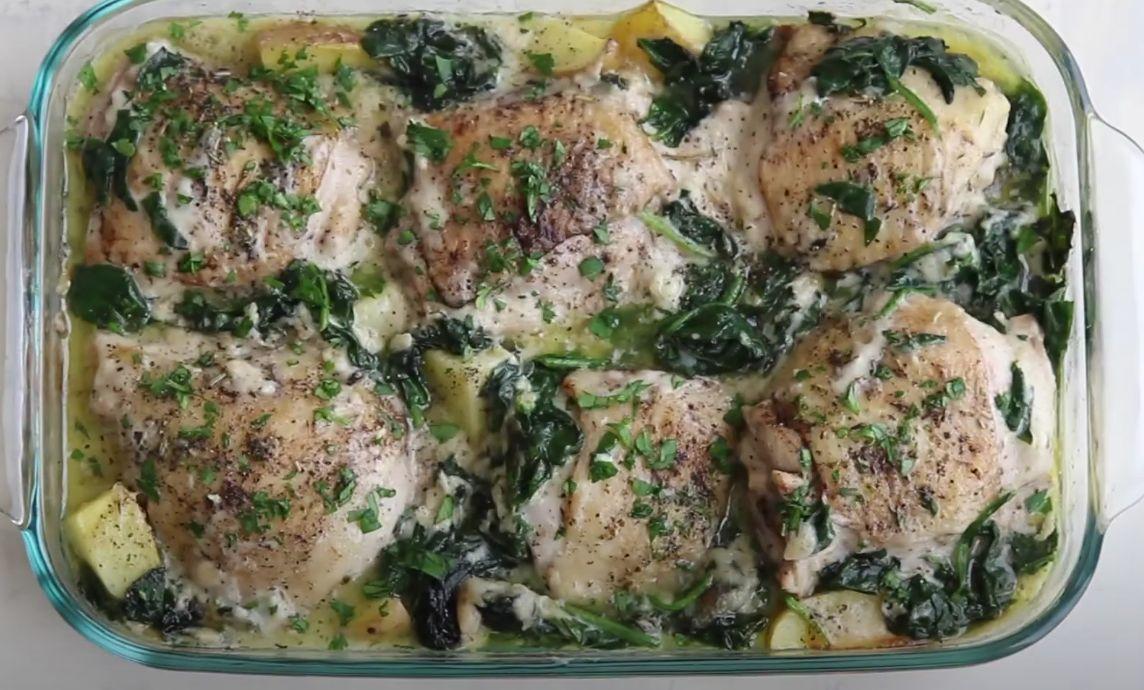 Broccoli Chicken Potato Parmesan Recipe