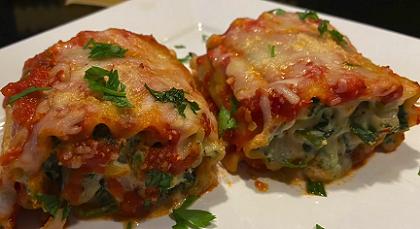 butternut squash and spinach lasagna rolls recipe